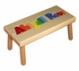 Personalized Large Wooden Puzzle Stool Primary Colors - click to Enlarge