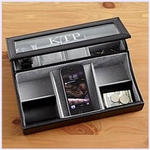 Personalized Mens Leather Accessories Box