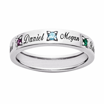 Personalized Mothers Birthstone Ring