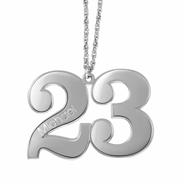 Personalized Name and Number Necklace