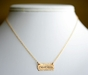 Personalized Petite Gold Tag Necklace - click to Enlarge