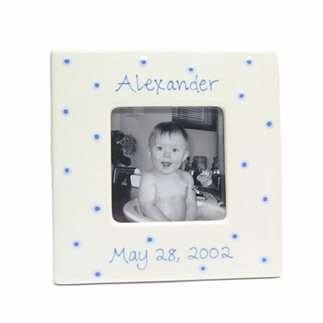 Personalized Picture Frame - Baby Dot