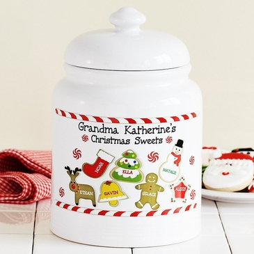 Personalized Porcelain Cookie Jar