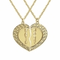 Personalized Puzzle Heart Pendant Necklace - click to Enlarge