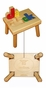 Personalized Small Wooden Puzzle Stool Primary Colors - click to Enlarge