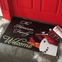 Personalized Snowman Doormat with Family Name - click to Enlarge