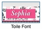 Personalized Toile Picture Frame - click to Enlarge