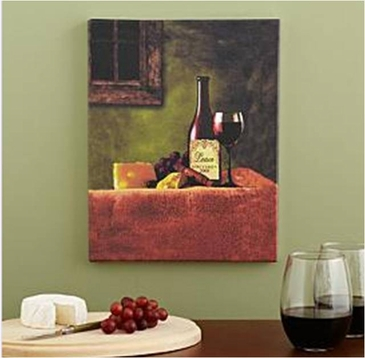 Pesonalized French Wine Canvas