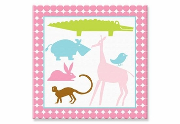 Pink Animal Canvas Wall Art