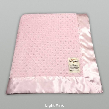 Pink Dot Velour Blanket by My Blankee