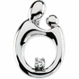 Polished Mother and Child Diamond Pendant - click to Enlarge