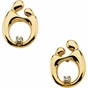 Polished Mother and Child Diamond Post Earrings - click to Enlarge