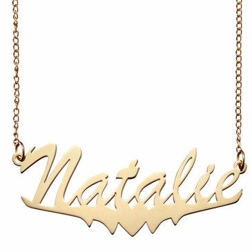 Polished Name and Heart Necklace