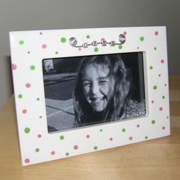 Polka Dots Picture Frame - Personalized