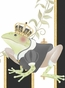 Posh Prince Crown Antico Black Name Plaque Personalized by Dish and Spoon - click to Enlarge