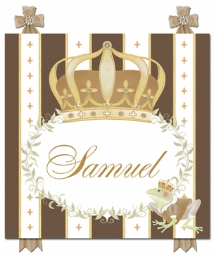 Posh Prince Crown Coco Chateau Name Plaque Personalized by Dish and Spoon