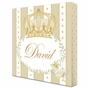 Posh Prince Crown Ivory Bisque Name Plaque Personalized by Dish and Spoon - click to Enlarge