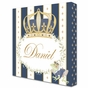 Posh Prince Crown Royal Blue Name Plaque Personalized by Dish and Spoon - click to Enlarge