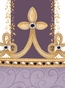 Posh Princess Crown Aubergine Dream Name Plaque Personalized by Dish and Spoon - click to Enlarge