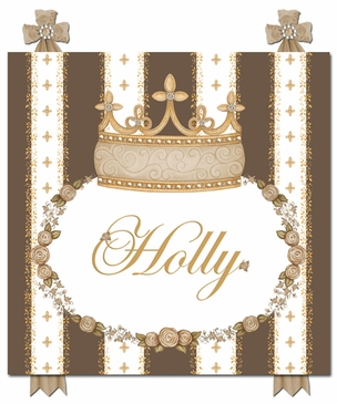 Posh Princess Crown Coco Chateau Name Plaque Personalized by Dish and Spoon