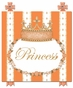 Posh Princess Crown Marigold Orange Name Plaque Personalized by Dish and Spoon - click to Enlarge