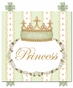 Posh Princess Crown Provence Green Name Plaque Personalized by Dish and Spoon - click to Enlarge