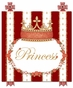 Posh Princess Crown Ruby Red Name Plaque Personalized by Dish and Spoon - click to Enlarge