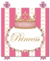 Posh Princess Crown That's Hot Pink Name Plaque Personalized by Dish and Spoon - click to Enlarge