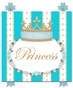 Posh Princess Crown Tiffany Blue Name Plaque Personalized by Dish and Spoon - click to Enlarge