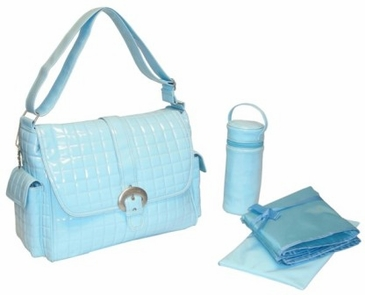 Powder Blue - Monique Diaper Bag by Kalencom