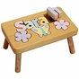 Pretty Garden Name Puzzle Stool - click to Enlarge