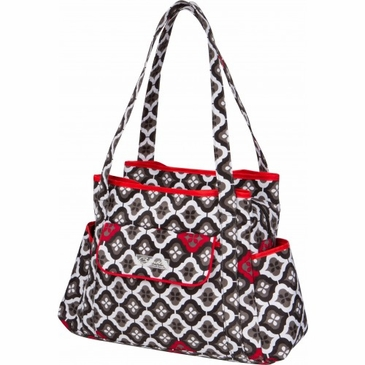 Rachel Roundabout Royal Ruby Montage Diaper Bag by Bumble Bags