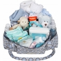 Rachel Roundabout Sky Blue Montage Diaper Bag by Bumble Bags - click to Enlarge
