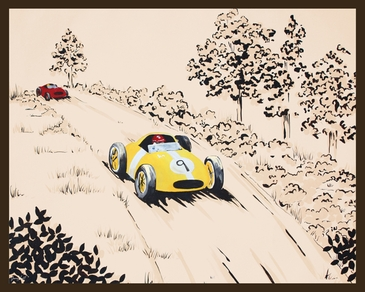 Rally Roadster II Stretched Art by Dish and Spoon