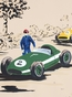 Rally Roadster III Stretched Art by Dish and Spoon - click to Enlarge