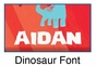 """Red Dinosaur Canvas Wall Art Personalized - 10"""" x 24"""" - click to Enlarge"""