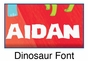 """Red Dinosaur Canvas Wall Art Personalized - 15"""" x 15"""" - click to Enlarge"""