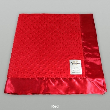 Red Dot Velour Blanket by My Blankee