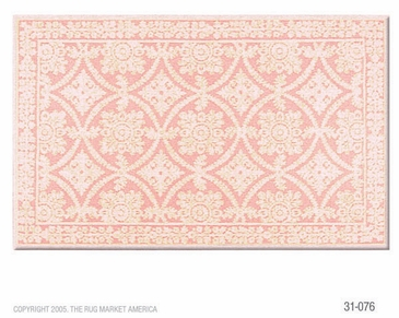Romantic Lace Rose Micro Hook Flannel Rug