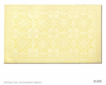 Romantic Lace Yellow Micro Hook Flannel Rug