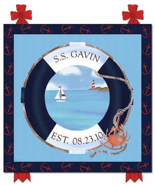 S.S. Maritime Name Plaque Personalized by Dish and Spoon