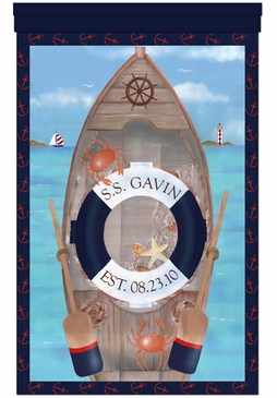 S.S. Maritime Wall Hanging Personalized by Dish and Spoon