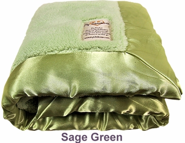 Sage Green Fuzzy Blanket by My Blankee