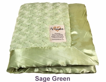 Sage Green Snail Blanket by My Blankee