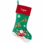 Santa and Sleigh Velvet Christmas Stockings - Personalized - click to Enlarge