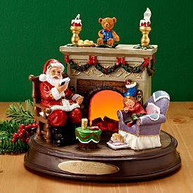 Santa's Bedtime Story Musical Figurine - Personalized