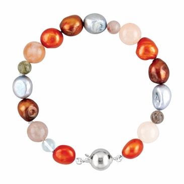 Sassy Pearl and Agate Bracelet