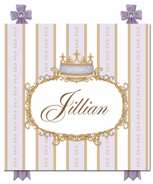 Se Faire Belle Crown Lovely Lavender Name Plaque Personalized by Dish and Spoon