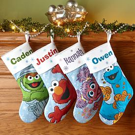 Sesame Street Christmas Stockings - Personalized