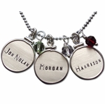Silver Framed Charm Necklace